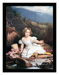 Girl with the Yellow Boots - Framed Art Print