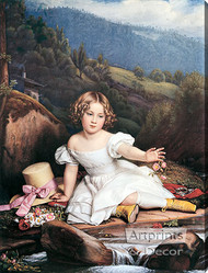 Girl with the Yellow Boots - Stretched Canvas Art Print