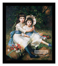 Cecile and Adela, Children of George Drummond - Framed Art Print