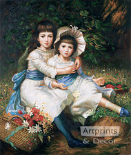Cecile and Adela, Children of George Drummond - Oil Painting Reproduction - Art Print