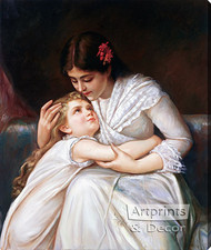 Pardon, Mama - Oil Painting Reproduction - Stretched Canvas Art Print