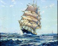 Clear Sailing by Frank Virins Smith – Stretched Canvas Art Print