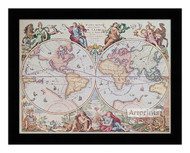 World Map 1792 - Framed Art Print