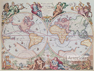World Map 1792 - Art Print