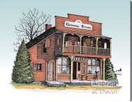 The General Store by Terry Lombard - Stretched Canvas Art Print