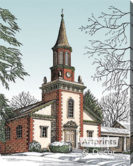 Old City Church by Terry Lombard - Stretched Canvas Art Print