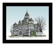 The Jasper County Courthouse - Framed Art Print