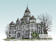 The Jasper County Courthouse by Terry Lombard - Art Print