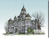 The Jasper County Courthouse by Terry Lombard - Stretched Canvas Art Print