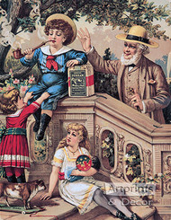 Genuine Durham Smoking Tobacco - Vintage Ad Art Print