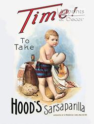 Hood's Sarsaparilla - Vintage Ad Art Print