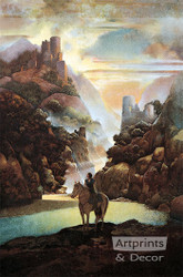 Aucassin Seeks for Nicolette by Maxfield Parrish - Art Print