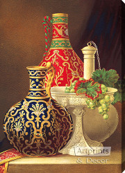 Still Life with Porcelain Objects - Stretched Canvas Art Print
