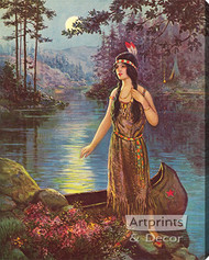 Indian Maiden by Frank Robert Harper - Stretched Canvas Art Print