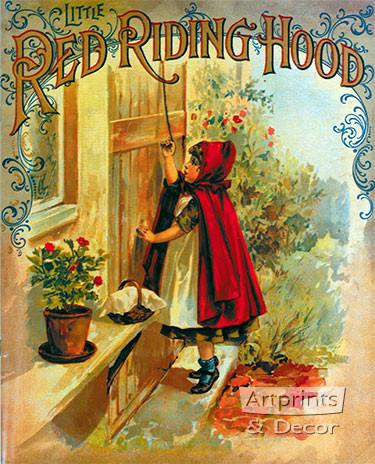 Little Red Riding Hood Vintage Book Illustration Art Print At