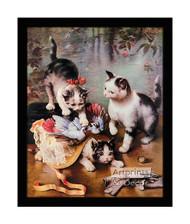 Mischievous Kittens - Framed Art Print