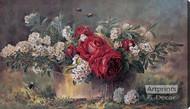 A Basket of Beauties by Paul de Longpre - Stretched Canvas Art Print