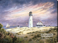 Cape Henlopen Lighthouse by William S. Dawson - Stretched Canvas Art Print