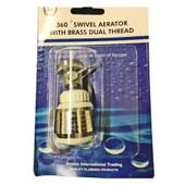 360º Swivel Aerator With Brass Dual Thread