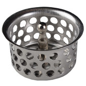 "Strainer With Post 1 1/2"" Stainless Steel"