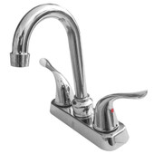 "Hybrid 4"" Center Bar Faucet Swan Lever Handle"