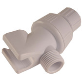 Handheld Shower Arm Adapter White