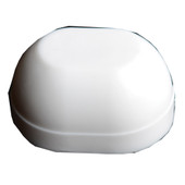 Toilet Bolt Cap White Plastic Oval Pack of 10