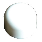 Toilet Bolt Cap White Plastic Round Pack of 10