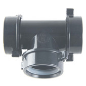 Abs Tubular Slip Joint 3 Way Tee Black