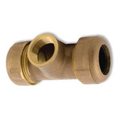 "Brass G-TEE Coupling 125PSI to 210ºF 3"" Long"
