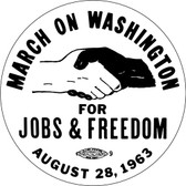 March On Washington Round Magnet