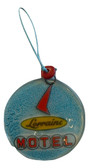 Lorraine Blue Glass Ornament