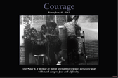"COURAGE  Birmingham, Alabama-1963   24""x36"" Unframed Poster"