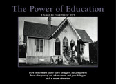 "THE POWER OF EDUCATION A School for Freed Slaves-1870 24"" x 36"" Unframed Poster"