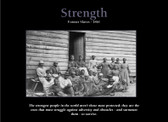 "STRENGTH  Former Slaves-1861 24"" x 36""  Unframed  Poster"