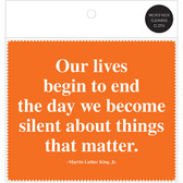 MLK Lives Quote Microfiber Cloth