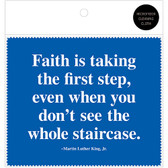 MLK Faith Quote Microfiber Cloth