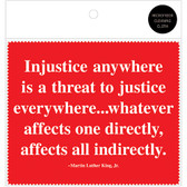 MLK Injustice Quote Microfiber Cloth