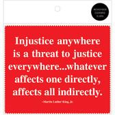 MLK Injustice Quote Microfiber Cloth