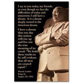 Jumbo MLK Dream Postcard