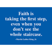 Blue Faith Quote Magnet