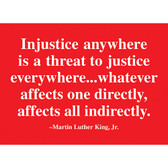 MLK Injustice Quote Magnet