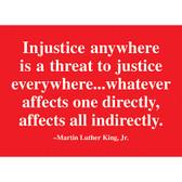 MLK Injustice Quote Magnet