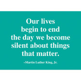 MLK Lives Quote Magnet