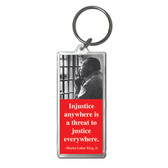 MLK Red Quote Keychain