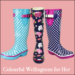 Colourful Wellingtons for Her