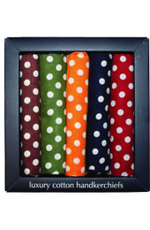 Boxed Spotty Hankies (Pack 5)