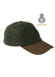 Glencairn Harris Tweed Baseball Caps - Herringbone