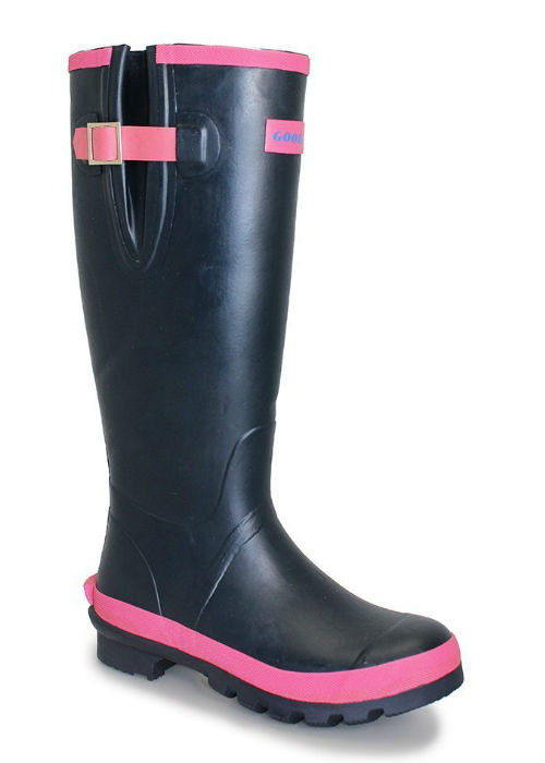 Adjustable wellington boots