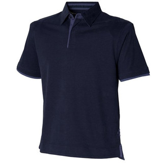 Soft touch jersey polo shirt in Navy